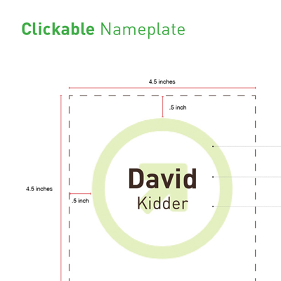 Clickable Nameplate